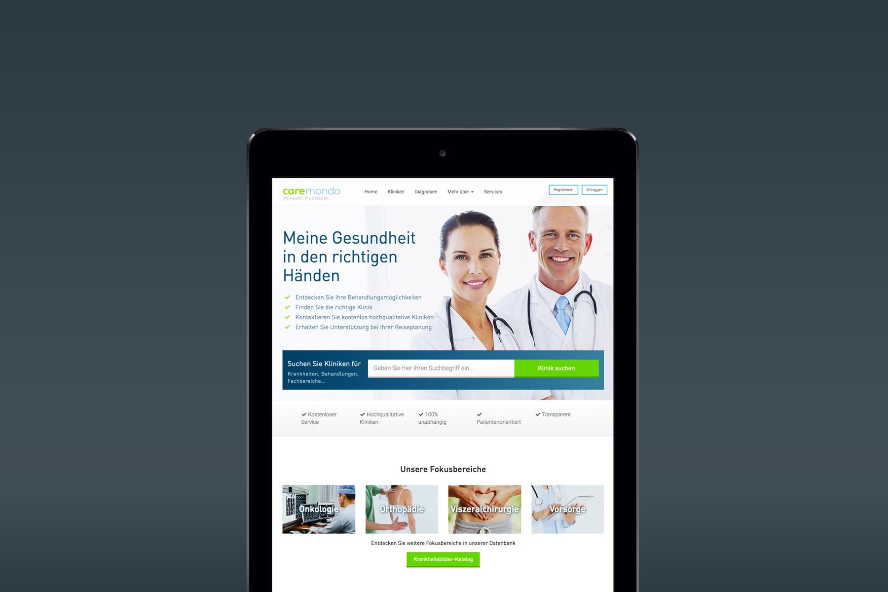 Web Design Tablet Optimiert