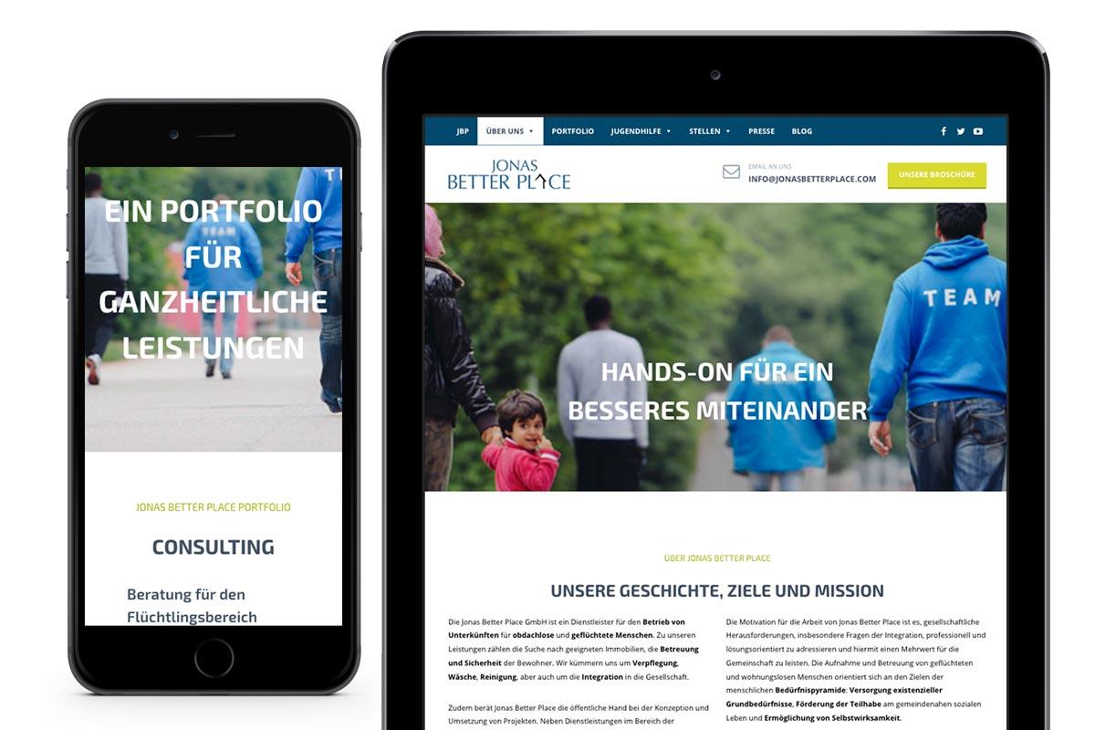 JBP mobile Webseite benchmark Design Agentur München
