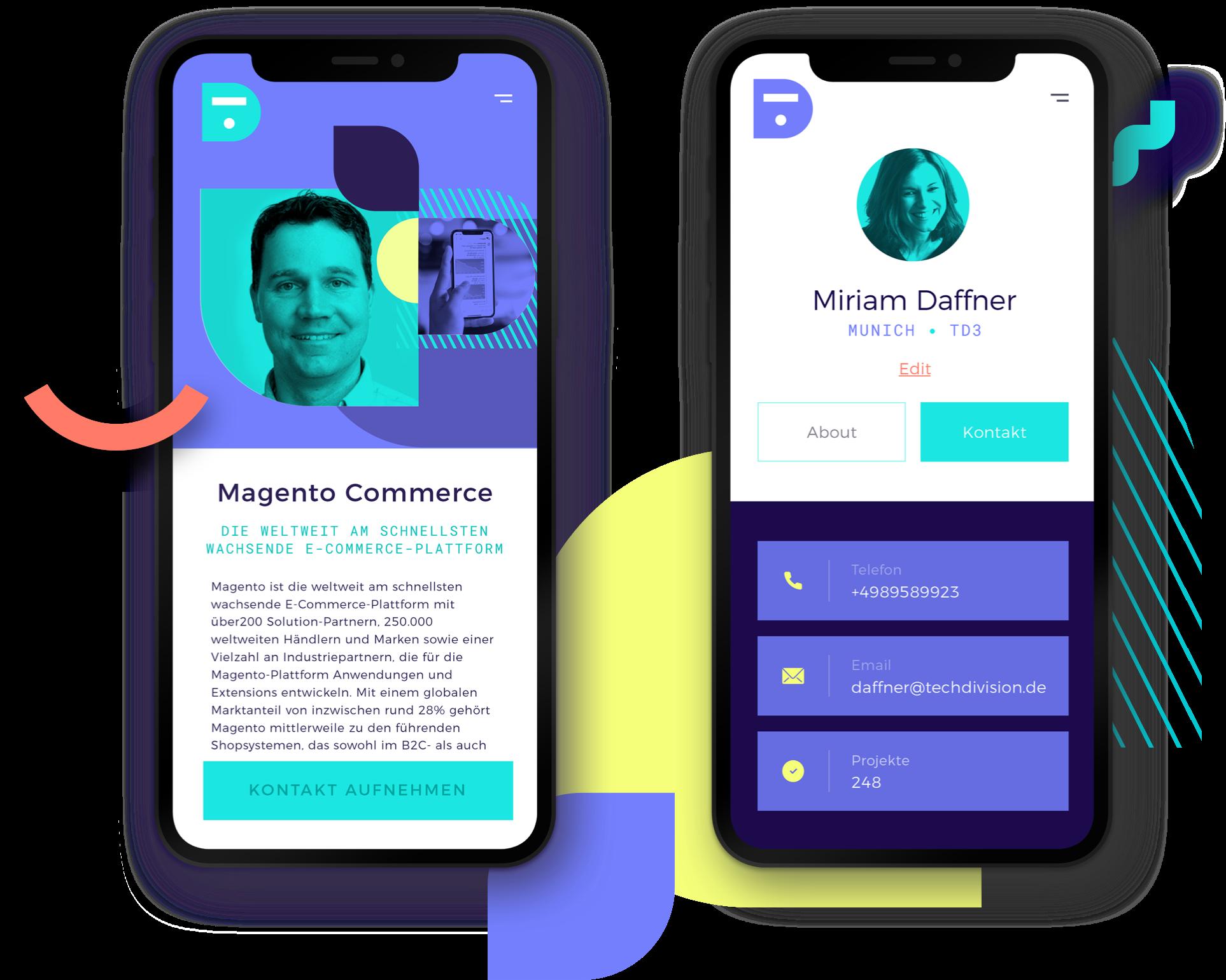 TechDivision Corporate Design Mobile Design
